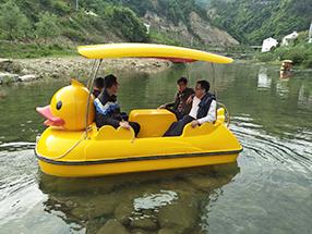 大黄鸭脚踏船(自排水)